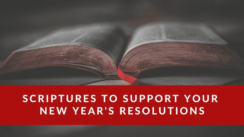 bible verses for New Years resolutions